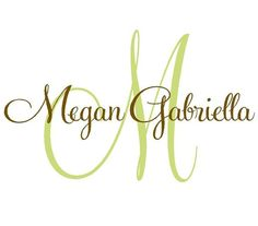 Nursery Name Decal  Large Monogram Vinyl by openheartcreations, $45.00