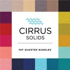 Cirrus Solids Organic Fat Quarter Bundle