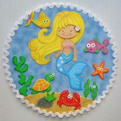 Sirena Foam Crafts, Diy Arts And Crafts, Crafts To Make, Crafts For Kids, Paper Crafts, Children's Day Craft, File Decoration Ideas, Little Mermaid Birthday, Ocean Crafts