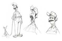 Living Lines Library: Bolt - Konzeptkunst - Charakter Design Cartoon Character Design Animation, Character Design References, 3d Character, Character Concept, Character Development, Cartoon Sketches, Cartoon Styles, Bolt Characters, Disney Concept Art