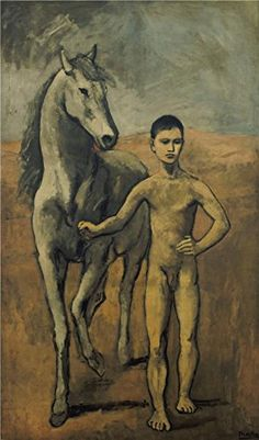 The High Quality Polyster Canvas Of Oil Painting Pablo PicassoBoy Leading A Horse1906 size 20x34 Inch  51x86 Cm this Beautiful Art Decorative Canvas Prints Is Fit For Home Theater Artwork And Home Decor And Gifts