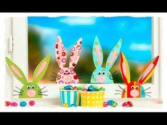 Bunte Stoff-Hasen im Fenster, Basteln mit Kindern - YouTube