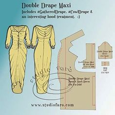 well-suited: Pattern Puzzle - Double Drape Maxi