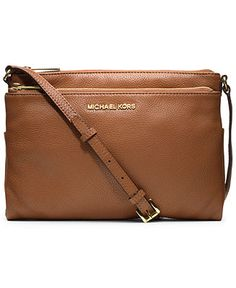 Brown leather crossbody purse... simple and classic design... like this one from Michael Kors.