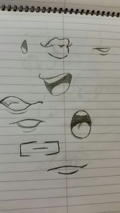 How I draw mouths