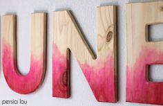 Persia Lou: DIY Watercolor Wood Letters Tutorial