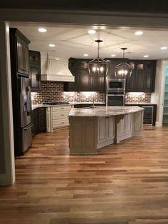 Home Decor Kitchen, Interior Design Living Room, Living Room Designs, Kitchen Ideas, Coastal Interior, Eclectic Kitchen, Kitchen Modern, Kitchen Layout, Kitchen Designs