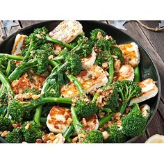 Haloumi, broccolini and lemon salad with crumb recipe - By Real Living