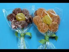Flores de gominolas o gomitas. Sweet flowers