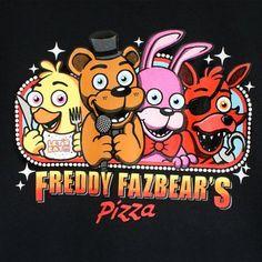 Five Nights at Freddy's Boys' Freddie Fazbear's Pizza T-Shirt Size 8, Black