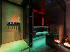Sauna/bathroom by VSB Wellness Bathroom Designs, Lighting Ideas, Pools, Paint Colors, Kitchen Design, Wellness, Houses, House Design, Spaces