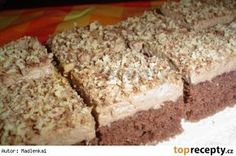 Pařížské řezy jednoduché Baking Recipes, Cake Recipes, Dessert Recipes, Czech Desserts, Czech Recipes, Sweets Cake, Healthy Diet Recipes, Christmas Sweets, No Bake Cake