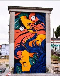 BICICLETA SEM FREIO http://www.widewalls.ch/artist/bicicleta-sem-freio/ #street #art