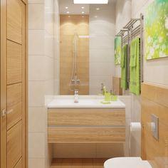 Большое зеркало в потолок зрительно увеличивает помещение.