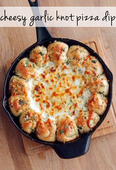Cheesy Garlic Knot Pizza Dip | You Will Never Think Of Pizza The Same Way After Trying This Dip