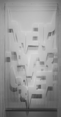 Plexiglas-Text | Ferdinand Kriwet, Plexiglas-Text (1975)