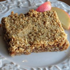My mother made these delicious bars often when I was growing up. No apple butter on hand? Fruit spreads, preserves, jams, and jellies work just fine. We've even used cranberry sauce before! :) I hope you enjoy this recipe as much as I have, and still do.