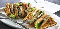 GOURMETtrim røget laks i grillet sandwich med mozzarella