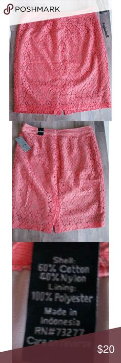 """NWT Apt.9 Lace Skirt NWT Apt.9 Lace Skirt Coral lace, in great new condition. Waist 16.5"""" Length 21.5"""" All offers considered. Apt. 9 Skirts"""