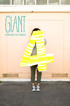 Giant Fringe Number DIY | Oh Happy Day!