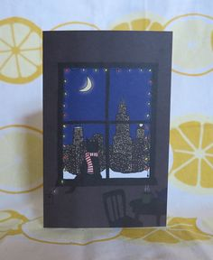 Cat in Chicago Holiday Cards - Set of 6 on etsy