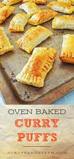 Oven Baked Curry Puffs #fingerfood #partyfood #curry #puffpastry #scruffandsteph