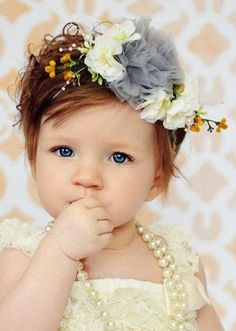 Flower Girl fancy braided headband for dress up and by missrubysue oh my cuteness can my child be this adorable please???