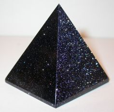 Blue Goldstone Pyramid
