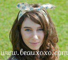 Cute Cream and Blue Pretty Floral Vintage Inspired by beauxoxo, £5.00