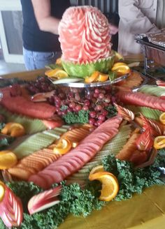 "Nice way to serve fresh fruit ""By George"" awesomecateringbygeorge@gmail.com"