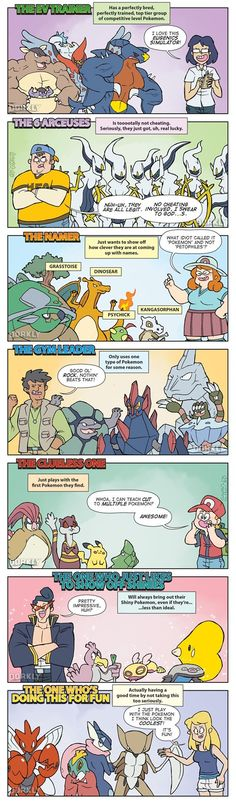 The Seven Types of Pokémon Players #Pokemon Comic--- I'm definitely the last type