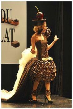 Chocolate dress...w/a cherry on top!