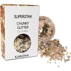 Superstar Glitter Face Body Nails Hair Festival Gems Beauty Makeup... ($6.80) ❤ liked on Polyvore featuring beauty products, bath & beauty, makeup & cosmetics and silver