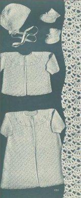 Crochet Baby Set - Christening Set