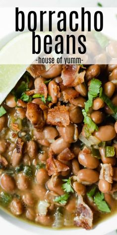 Borracho Beans (Frijoles Borrachos)Borracho beans, or frijoles borrachos are flavorful, savory, and the perfect Tex Mex side dish! Pinto beans cooked up with bacon, onion and garlic all simmered in a dark beer for even more flavor. Taco Side Dishes, Mexican Side Dishes, Side Dishes Easy, Vegetable Side Dishes, Side Dish Recipes, Food Dishes, Dinner Recipes, Holiday Side Dishes, Frijoles Charros