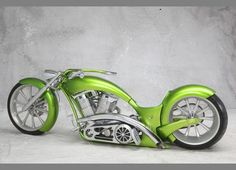 """Bring out the long bike!  2009 Custom Motorcycle KW CUSTOMS """"The Green Mile"""""""