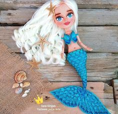 Crochet Dollies, Crochet Doll Pattern, Crochet Toys, Crochet Patterns, Crochet Fairy, Crochet Mermaid, Crochet Mandala, Yarn Dolls, Knitted Dolls