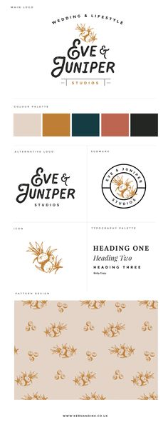 Photography Branding Board Style Sheet, Hand Lettering, Illustration, Floral, Alternative - Kern & Ink Studio Informations About Eve & Juniper Studios — Kern & Ink Studio Pin You can easily use my pro Photography Packaging, Photography Logo Design, Photography Business, Color Photography, Landscape Photography, Photography Ideas, Site Web Design, Web Design Tutorial, Graphisches Design