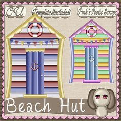 Beach Hut (FS-CU-TEMPLATE-PSP SCRIPT) [Pink] : Scrap and Tubes Store, Digital Scrapbooking Supplies