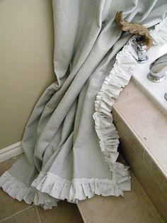 Shabby Ruffle Curtain