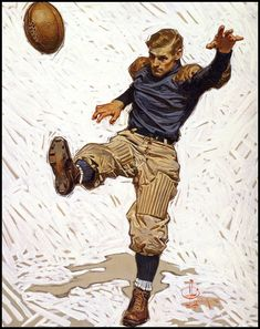 malebeautyinart:  The Punter (1908). J.C. Leyendecker  Very Alexander Wang f/w 2010