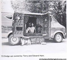 73 custom Dodge van. Where is it now? by Dying In Downey, via Flickr