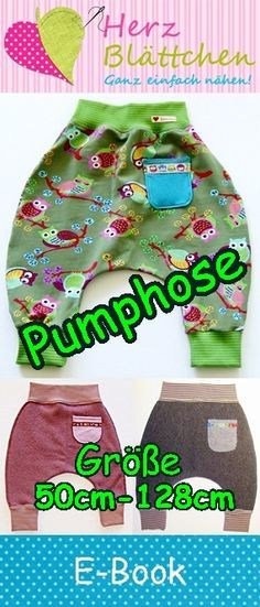 at wp-content uploads 2016 01 Ebook-pumphose-logo. Sewing Projects For Kids, Sewing For Kids, Sewing Clothes, Diy Clothes, Baby Kids, Baby Boy, Diy Vetement, Baby Pants, Logo Nasa