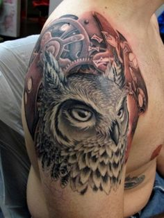 Owl Clockwork Tattoo - 55 Awesome Owl Tattoos | Art and Design