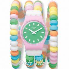 Dale color a tus muñecas con este nuevo reloj de Swatch por sólo 40,50€! http://www.onlysilver.es/relojes-swatch/1769-reloj-swatch-caramellissima-l-lp135a-7610522018990.html#.U6lb8ZR_uVM @onlysilverjoyas me encanta este reloj, parece que esté hecho de chuches... #JuntosPodemos