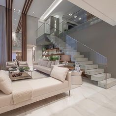 Living with double right foot by brand boeing interior architecture Interior Design Your Home, Dream House Interior, Home Room Design, Dream Home Design, Luxury Homes Interior, Contemporary Interior Design, Modern House Design, Interior Architecture, Front Room Decor
