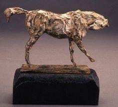 George Carlson, Horse I, Biting Shoulder 1997, bronze