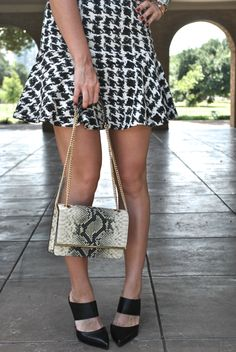@northparkcenter Intermix Skirt & Shoes with Henri Bendel Bag | | Chronicles of Frivolity