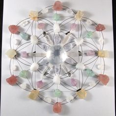 Full Moon Crystal Stone Grid created by Enter the Earth's Metaphysical… Crystal Altar, Crystal Magic, Crystal Grid, Crystal Healing, Minerals And Gemstones, Crystals Minerals, Rocks And Minerals, Stones And Crystals, Gem Stones
