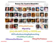 Today is August 5, 2017, and #KansasCity is almost at 90 homicides this year. What can you do to help? #SpeakUp #TellWhatYouKnow #WhatDidYouSee #IfYouSeeSomethingSaySomething People complains about the violence in the community AND will turn their heads when they see something and know something. The million dollar question is how to combat crime? People have their views and opinions but if you want results you must have action. You cannot sit down and complain about a problem and expect the…